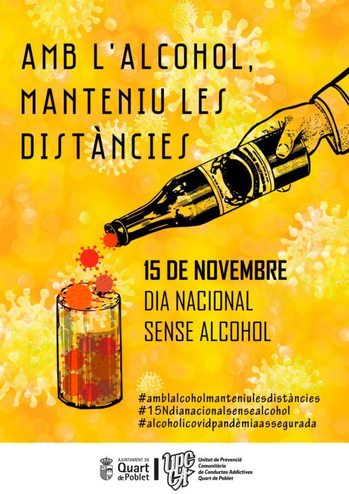 """L'Ajuntament de Quart de Poblet se suma a la campanya """"Amb l'alcohol, mantingueu les distàncies"""""""