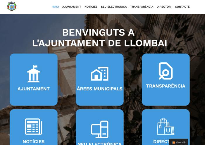 Llombai posa en marxa un nou portal web més renovat i més transparent