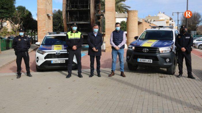 La Policia Local de l'Alcúdia estrena dos cotxes híbrids i la seua primera unitat canina