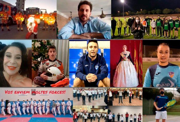 Una vintena de famosos i col·lectius de la Ribera feliciten per vídeo a pacients i treballadors de l'Hospital d'Alzira