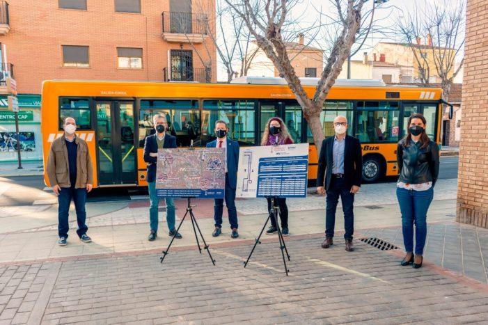 Alaquàs comptarà a partir del mes de febrer amb una nova línia d'autobús que arribarà directament a la parada de metro Nou d'Octubre de València