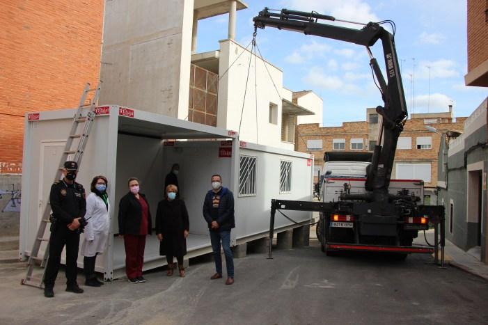 L'Ajuntament de Picassent instal·la dos mòduls per a la realització de proves PCR+ al carrer Verge del Carme