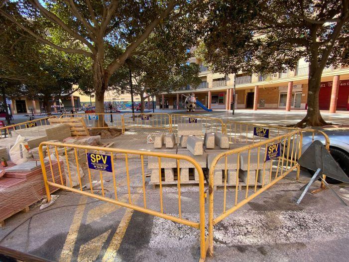 Continuen les obres de millora del carrer Marquesat i Verge del Puig a Torrent