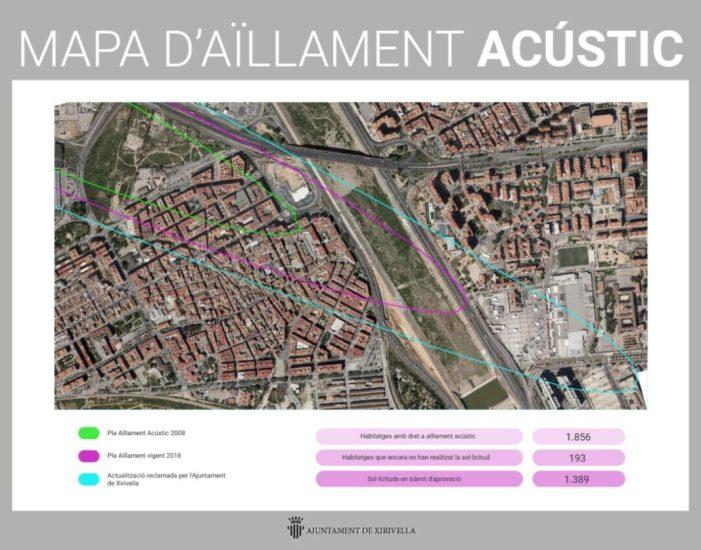 Un 10% dels habitatges de Xirivella afectades pel soroll dels avions encara no han tramitat la seua sol·licitud d'aïllament