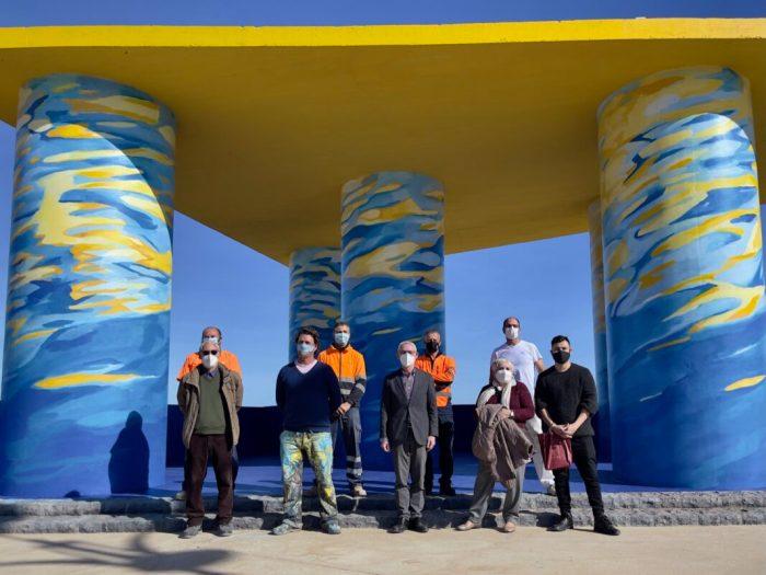 Alboraia presenta el seu renovat Mirador de la Patacona amb el veí i artista internacional Patricio Forrester
