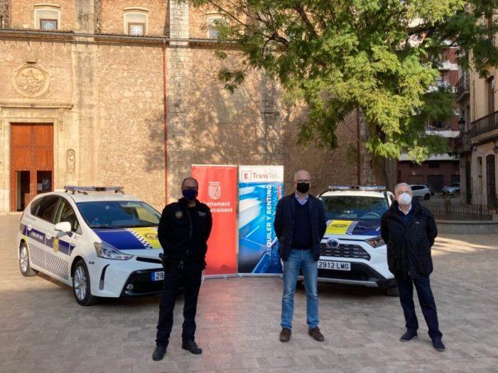 L'Ajuntament de Carcaixent incorpora dos vehicles híbrids a la flota de la Policia Local