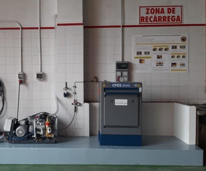 El Consorci Provincial de Bombers destina més de mig milió d'euros als nous equipaments de recàrrega d'aire