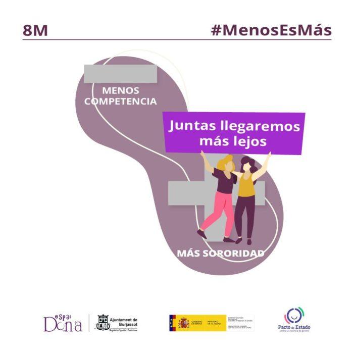 Burjassot celebra el 8M, Dia Internacional de les Dones