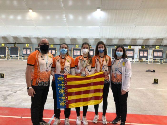 Els almussafenys Emi Lucha, Nerea López i Bea Polo triomfen en el Campionat d'Espanya de Tir amb Arc en Sala