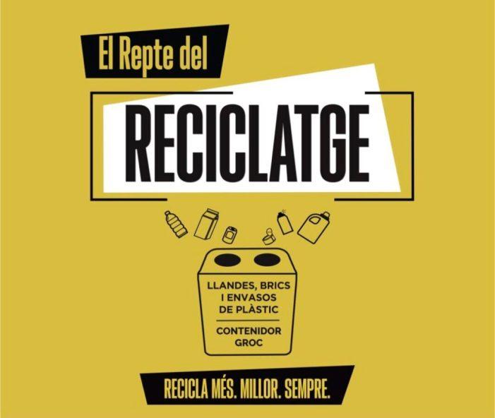 """El veïnat de Alberic se suma al """"Repte del Reciclatge"""" de la mà de Generalitat i Ecoembes"""