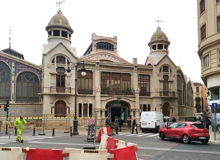 Arranquen les obres de l'entorn del Mercat Central de València garantint els accessos