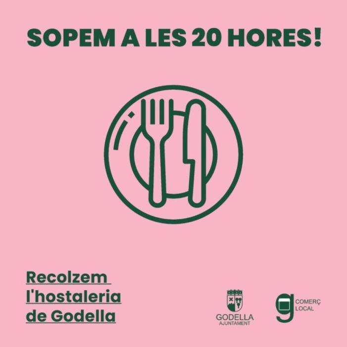 L'Ajuntament de Godella llança una campanya per a avançar els sopars a les 20 hores en els establiments hostalers