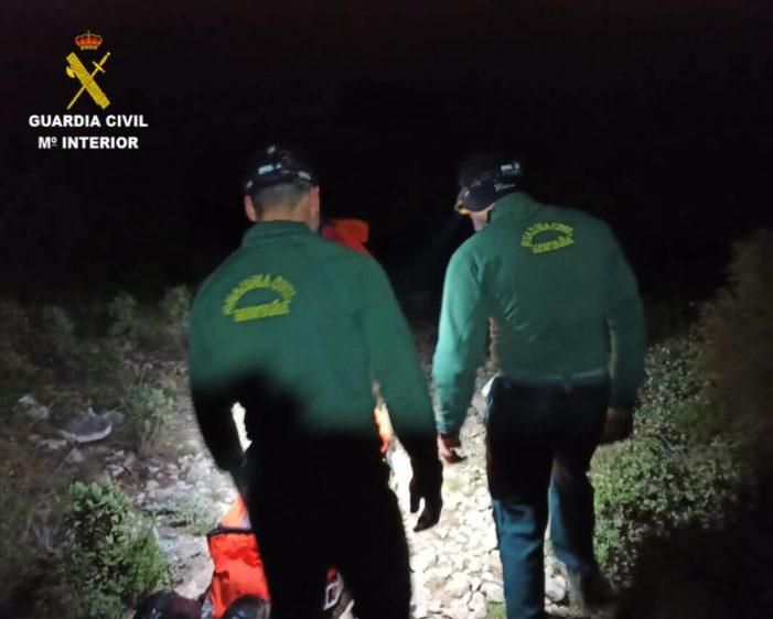 La Guàrdia Civil rescata en menys de 48 hores a un altre senderista en la zona coneguda com el Barranc Tarongers en la localitat d'Ontinyent