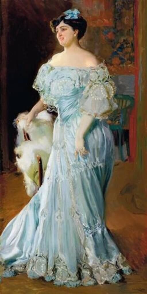 El quadre d'Isabel Bru pintat per Sorolla arriba al Museu de Belles Arts de València
