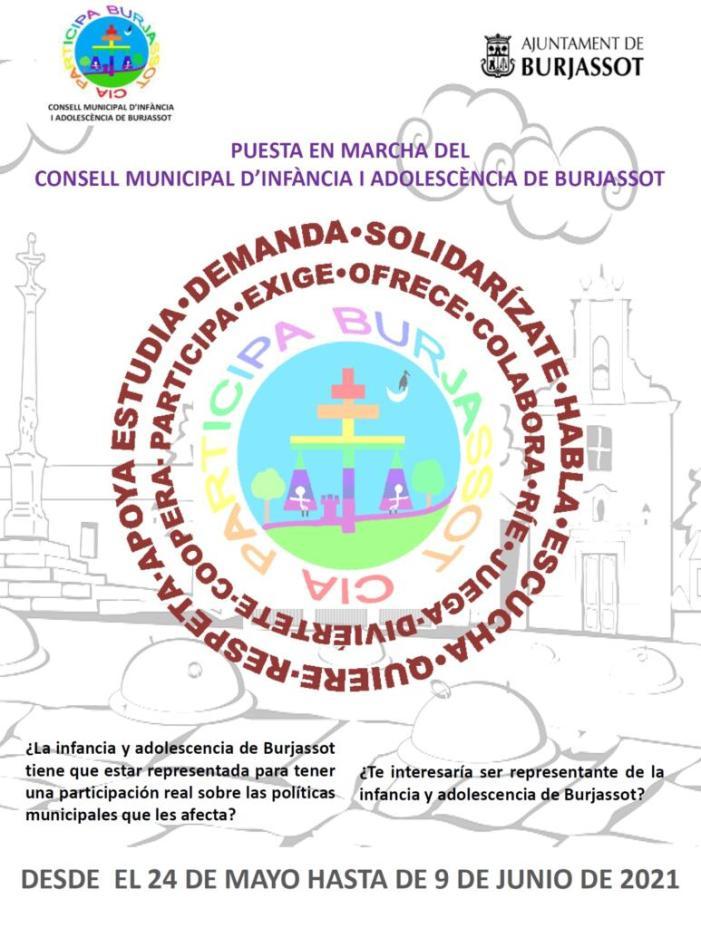 L'Ajuntament de Burjassot treballa en la constitució del Consell Municipal d'Infància i Adolescència (CIA) buscant la implicació de xiquets i joves