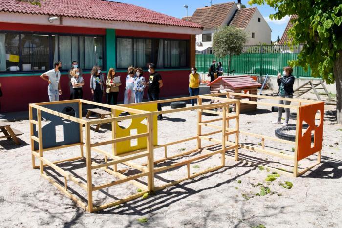 EL CEIP Jaume I de Paiporta estrena un nou pati coeducatiu per a l'alumnat d'Infantil