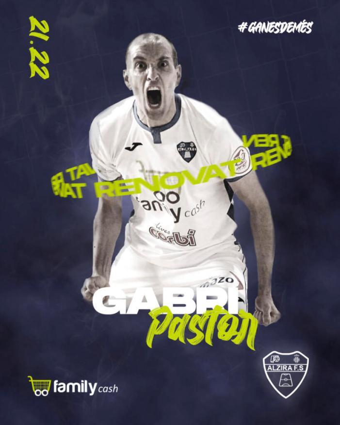 Gabri Pastor renova el seu compromís amb el Family Cash Alzira FS per a la temporada 21-22