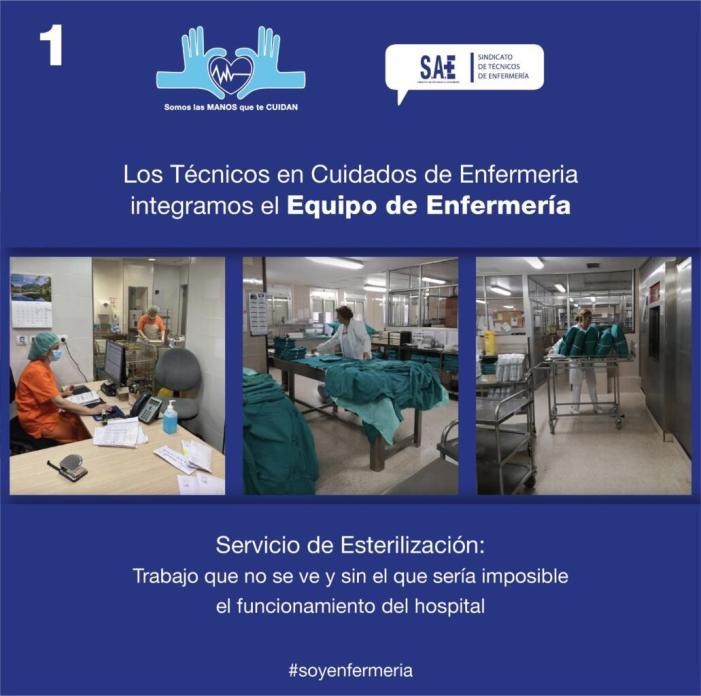El treball que els TCE realitzen en esterilització és essencial per al funcionament correcte de l'hospital
