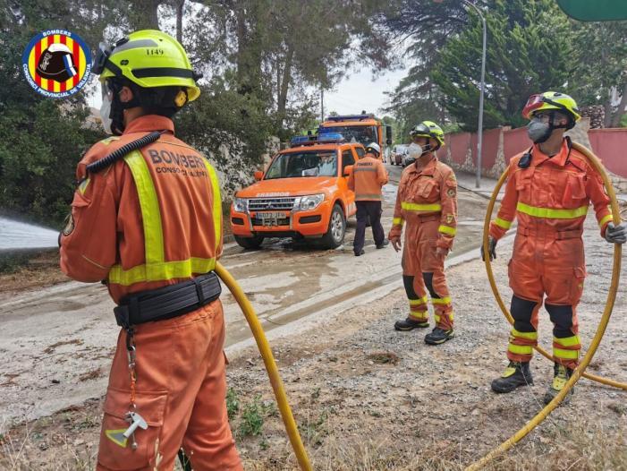 El Consorci realitza un simulacre d'incendi d'interfase a una urbanització de L'Eliana