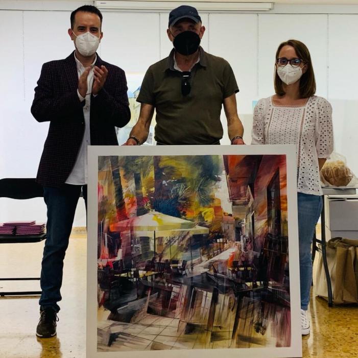Rubén Paricio, de la Vall d'Uixó, guanya el Concurs de Pintura Ràpida a l'Aire Lliure d'Alberic 2021