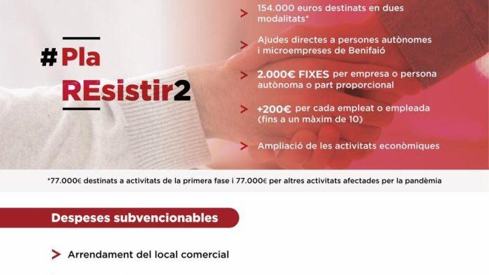 L'Ajuntament de Benifaió convoca l'II Pla Resistir