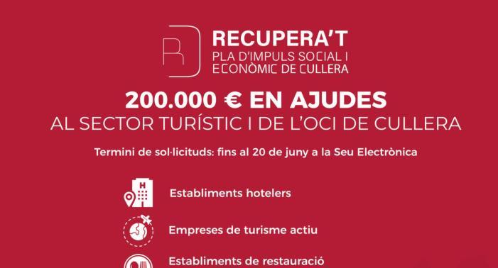 Cullera destina 200.000 euros en ajudes al sector turístic i de l'oci