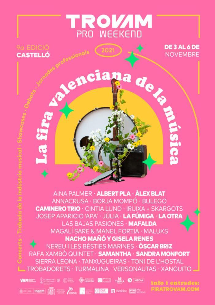 La Fira Valenciana de la Música Trovam avança el cartell de la novena edició amb Mafalda, La Fúmiga i Samantha