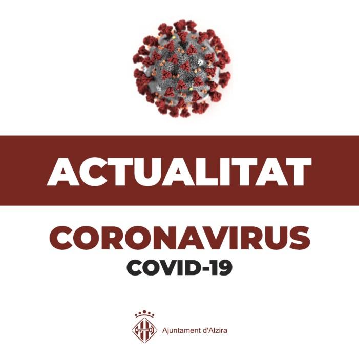Actualització dades COVID, Alzira, Augmenten els contagis en la comarca