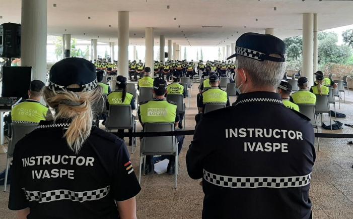 Els cossos de policies reprendran tota la formació presencial en el Ivaspe a partir de setembre