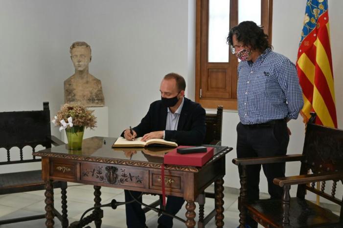 El vicepresident segon del Consell, Rubén Martínez Dalmau, visita Meliana