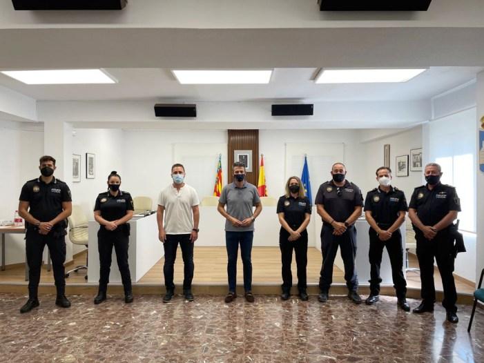 Almussafes incorpora cinc agents al funcionariat de la seua Policia Local