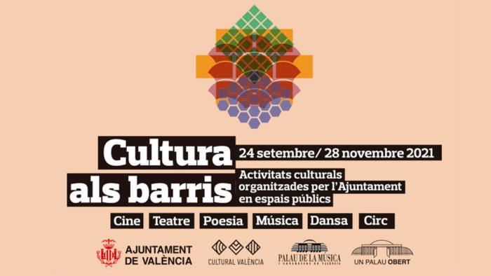 Arranca 'Cultura als barris 2021', del 24 de setembre al 28 de novembre