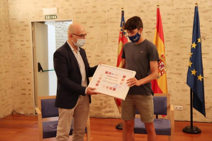 El Castell d'Alaquàs va acollir l'acte d'homenatge a l'esportista local David Cantero