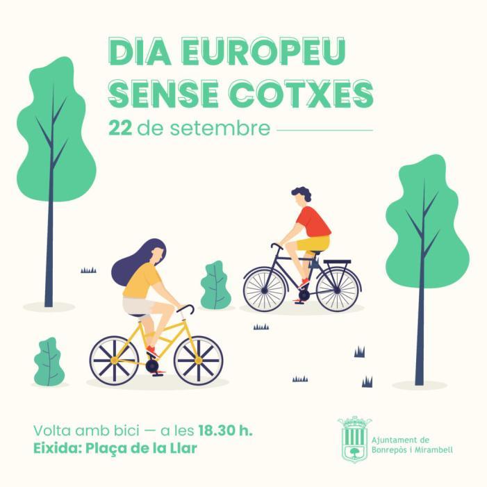 Bonrepòs i Mirambell celebra el Dia sense Cotxe amb una volta amb bicicleta pel municipi