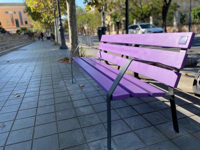 L'Ajuntament instal·la 30 bancs violeta per a donar visibilitat a les dones referents de la igualtat