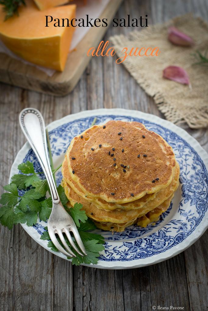 Pancakes salati alla zucca1