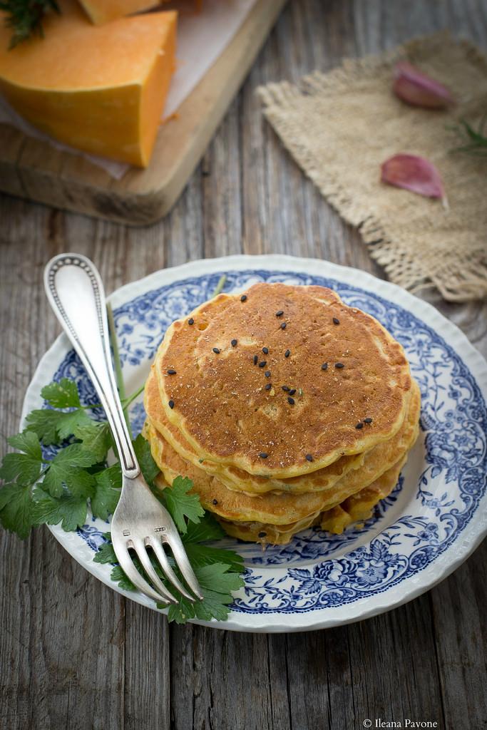 Pancake salati alla zucca