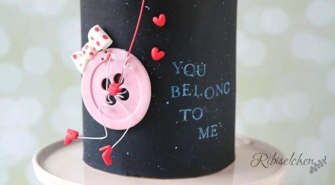 Buttons in love – eine Valentinstagstorte