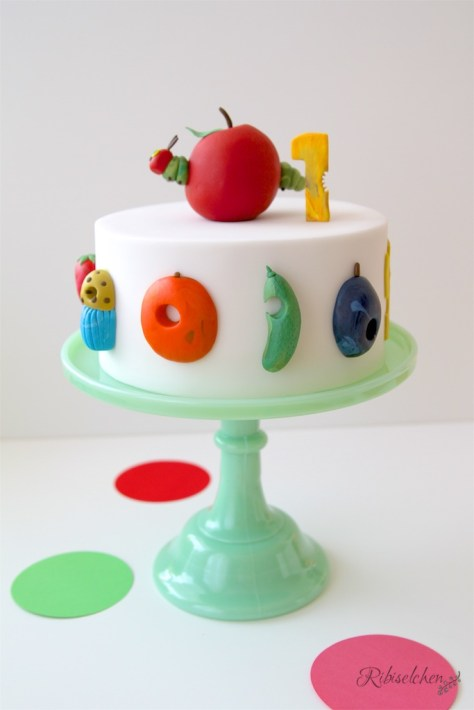 Raupe Nimmersatt-Torte