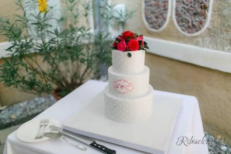 Hochzeitstorte Rosen 19