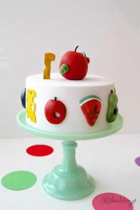 Raupe Nimmersatt Party mit Torte, Cupcakes und Cookies