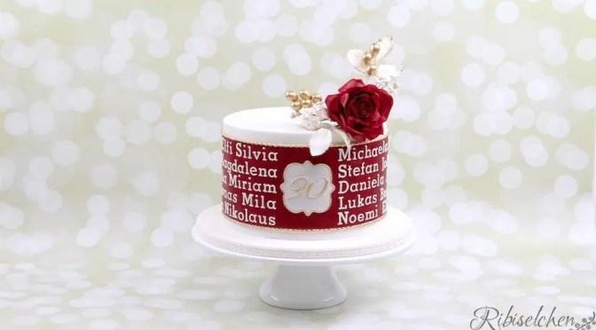 Eine Torte zum 90. Geburtstag