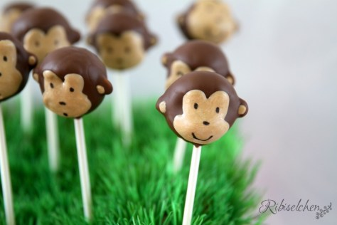 Dschungelparty Süßigkeiten Affen Cake Pops