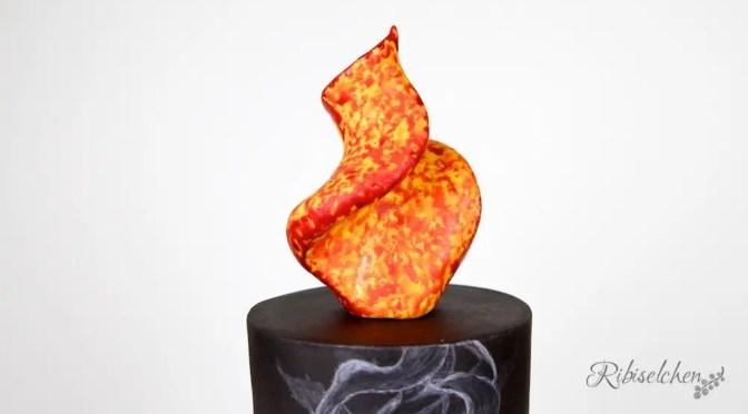 Eine Kerze, Rauch und Feuer – meine Ostertorte 2018