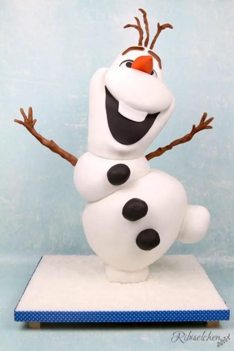 Olaf 3D-Torte