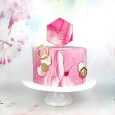 Babyparty Torte rosa