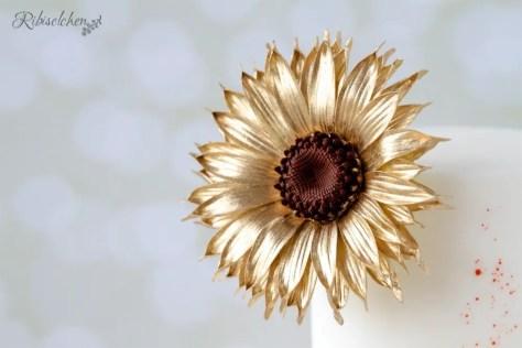 Sonnenblume aus Zucker - Sugar sunflower