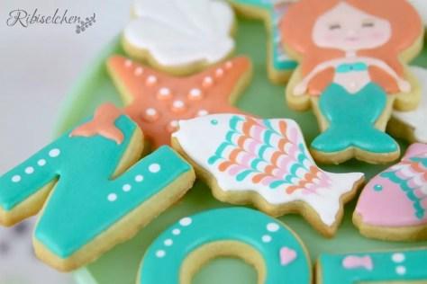 Meerjungfrauen Sweet Table Kekse
