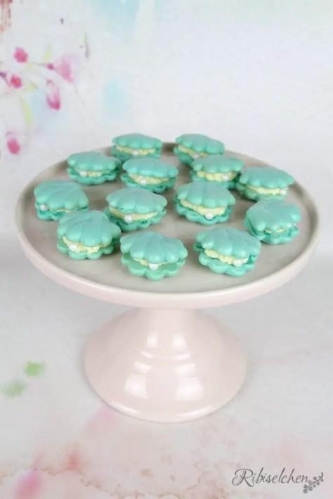 Meerjungfrauen Sweet Table Macarons