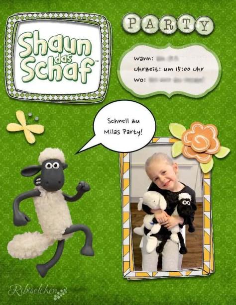 Shaun, das Schaf Party Einladung